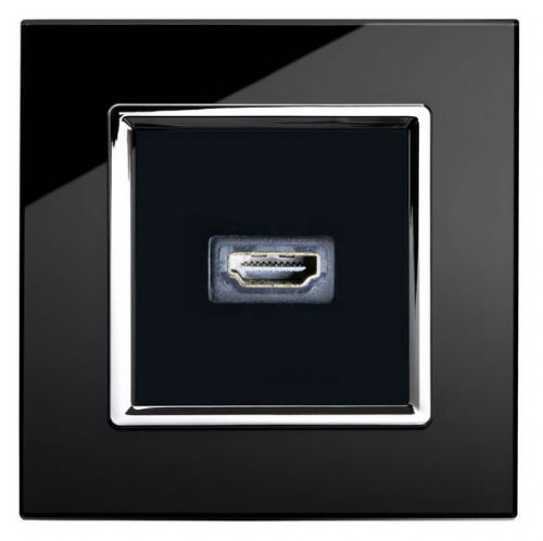 RetroTouch HDMI Socket Black Glass CT 00314